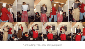 Re-enactment : Kampvolgster Robes & Cloaks in historische kostuum / historische kledij