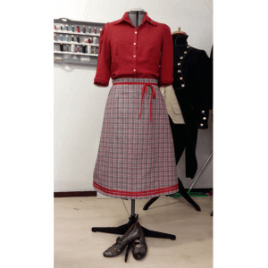 Set for WW II consisting of skirt and blouse.