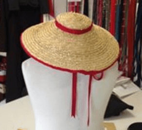 Children's straw hat