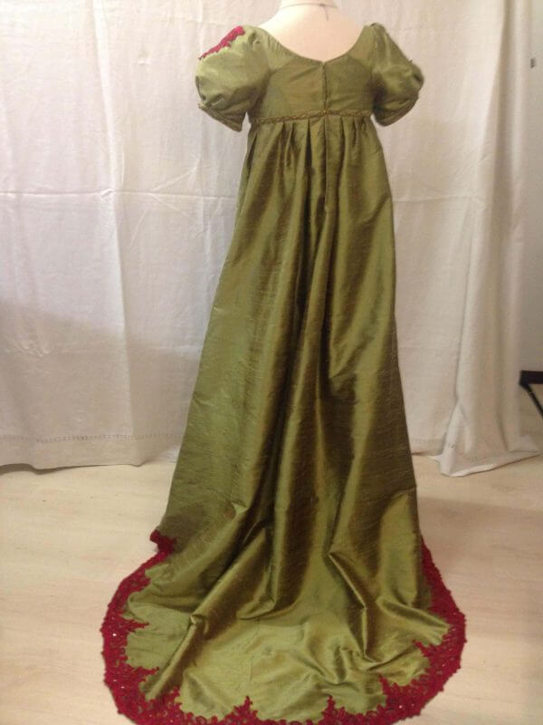 Regency ballgown of silk