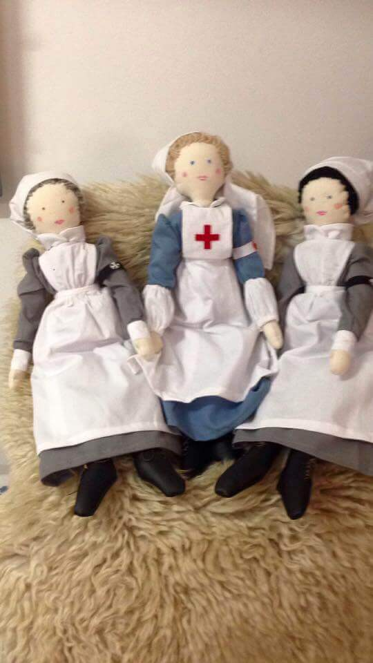 Rag doll German nurse WW1 RobesandCloaks